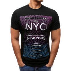 T-shirty męskie z nadrukiem: T-shirt męski z nadrukiem czarny (rx2603)