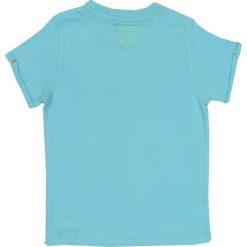 Nativo - T-shirt dziecięcy 104-164 cm. Niebieskie t-shirty chłopięce z nadrukiem Nativo, z bawełny, z okrągłym kołnierzem. W wyprzedaży za 24,90 zł.