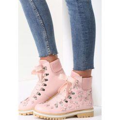 Buty zimowe damskie: Różowe Traperki In My Secret Room