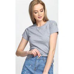 Szary T-shirt Sharp Edges. Szare bluzki damskie marki Born2be, l. Za 39,99 zł.
