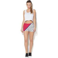 Spodnie damskie: Colour Pleasure Spodnie damskie CP-020 25 czerwono-białe r. 3XL/4XL