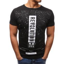 T-shirty męskie z nadrukiem: T-shirt męski z nadrukiem czarny (rx2626)