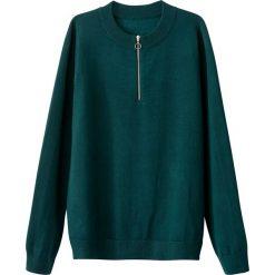 Sweter z wiskozy zapinany na zamek. Zielone golfy damskie La Redoute Collections, m, z poliamidu. Za 110,84 zł.