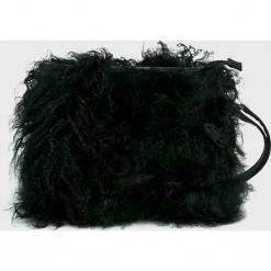 Answear - Torebka Animal me. Czarne torebki klasyczne damskie ANSWEAR, w paski, z materiału, średnie. Za 199,90 zł.