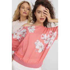 T-shirty damskie: Nietoperzowa koszulka w kwiaty