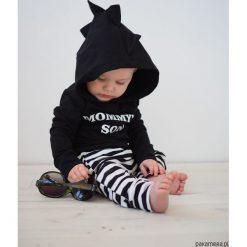 Bluzy chłopięce rozpinane: Bluza czarna dla dziecka z kapturem