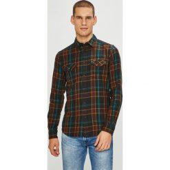 Wrangler - Koszula. Czarne koszule męskie na spinki Wrangler, l, w kratkę, z bawełny, z klasycznym kołnierzykiem, z długim rękawem. Za 239,90 zł.
