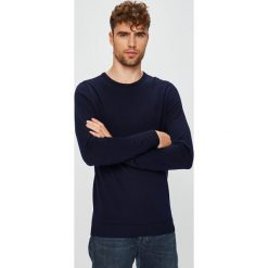 Selected - Sweter. Czarne swetry klasyczne męskie marki Selected, l, z dzianiny, z okrągłym kołnierzem. W wyprzedaży za 199,90 zł.