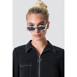 Le Specs Okulary przeciwsłoneczne Outta Love - White. Białe okulary przeciwsłoneczne damskie aviatory Le Specs, owalne. Za 222,95 zł.