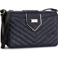 Torebka MONNARI - BAG7070-012 Blue. Brązowe listonoszki damskie marki Monnari, w paski, z materiału, średnie. W wyprzedaży za 129,00 zł.
