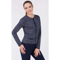 Swetry rozpinane męskie: Kardigan z oryginalnym wzorem