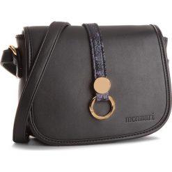 Torebka MONNARI - BAG3480-020 Black. Czarne listonoszki damskie marki Monnari, ze skóry ekologicznej. W wyprzedaży za 99,00 zł.