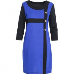 Czarno-Niebieska Sukienka Since You're Gone. Czarne sukienki Born2be, na jesień, xl, midi. Za 49,99 zł.