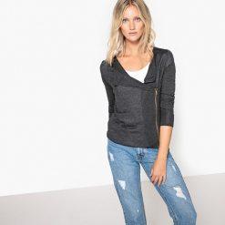 Swetry rozpinane damskie: Sweter kardigan zapinany na suwak