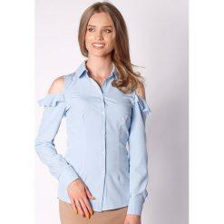 Koszule wiązane damskie: Koszula w kolorze błękitnym