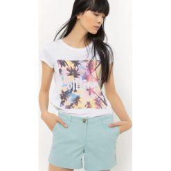 T-shirty damskie: T-shirt z nadrukiem palm, z krótkim rękawem