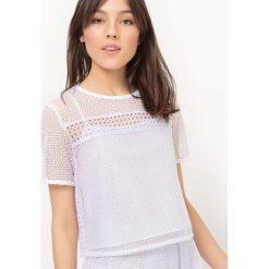 Bluzki asymetryczne: Bluzka z koronki, krótka, z ozdobnym wiązaniem z tyłu
