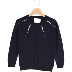 Swetry dziewczęce: Granatowy Sweter Seek And Love