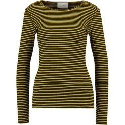 Bluzki asymetryczne: JUST FEMALE Bluzka z długim rękawem black/yellow