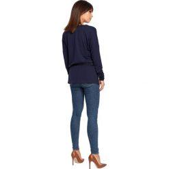 CHARITY Tunika z wiązaniem - granatowa. Niebieskie tuniki damskie BE, na co dzień, l, z jeansu. Za 136,99 zł.