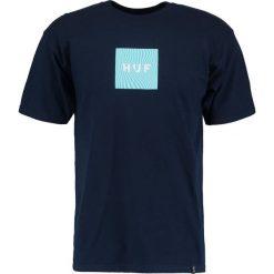 T-shirty męskie z nadrukiem: HUF OPTICAL WAVE LOGO Tshirt z nadrukiem navy