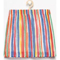 Spódniczki dziewczęce z falbankami: Plisowana spódnica w paski – Czerwony