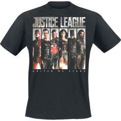 Justice League Photo Slices T-Shirt czarny. Czarne t-shirty męskie z nadrukiem Justice League, s, z okrągłym kołnierzem. Za 32,90 zł.