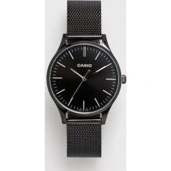 Casio - Zegarek LTP.E140B.1AEF. Czarne zegarki męskie marki Fossil, szklane. Za 439,90 zł.