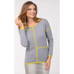 Swetry klasyczne damskie: Sweter z lamówką