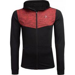 Bluza treningowa męska BLMF601 - czerwony melanż - Outhorn. Czerwone bluzy męskie rozpinane marki KALENJI, m, z elastanu, z długim rękawem, długie. W wyprzedaży za 99,99 zł.