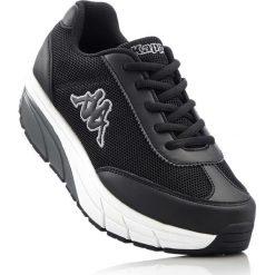 Buty sportowe Kappa bonprix czarno-biały. Szare buty sportowe damskie marki bonprix, z materiału. Za 139,99 zł.