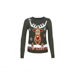 Swetry Vero Moda  VMRUDOLPH. Szare swetry klasyczne damskie marki Vero Moda, l, z bawełny, casualowe. Za 99,00 zł.
