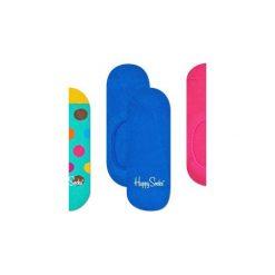 Skarpetki Happy Socks -  3-Pak Liner (BDO18-7000). Niebieskie skarpetki męskie Happy Socks, w kolorowe wzory, z bawełny. Za 63,90 zł.