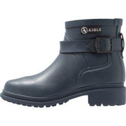 Aigle MACADAMES LOW Kalosze ardoise. Niebieskie buty zimowe damskie Aigle, z materiału. Za 479,00 zł.