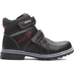 Buty zimowe chłopięce: Czarne Traperki Sincerity