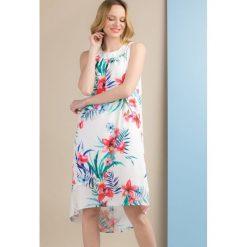 Odzież damska: Sukienka w kolorowe, duże kwiaty