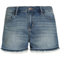 Abercrombie & Fitch MIDI INSERT Szorty jeansowe dark blue. Niebieskie szorty jeansowe damskie Abercrombie & Fitch. Za 149,00 zł.