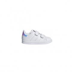 Buty Adidas Stan Smith AQ6274 22. Szare buciki niemowlęce chłopięce Adidas, z gumy, z paskami. Za 148,83 zł.
