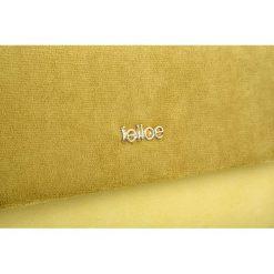 Żółta damska kopertówka Felice A mat/plusz EMMA. Żółte puzderka Felice, w paski, eleganckie, małe. Za 59,90 zł.