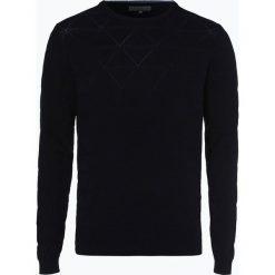 Finshley & Harding - Sweter męski, niebieski. Czarne swetry klasyczne męskie marki Finshley & Harding, w kratkę. Za 229,95 zł.