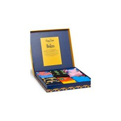 Skarpetki Happy Socks X The Beatles XBEA10-2000. Szare skarpetki męskie Happy Socks, z bawełny. Za 200,00 zł.