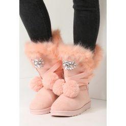 Buty zimowe damskie: Różowe Śniegowce Ice Lady