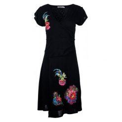 Desigual Sukienka Damska M Czarny. Szare sukienki asymetryczne marki Desigual, l, z tkaniny, casualowe, z długim rękawem. W wyprzedaży za 259,00 zł.