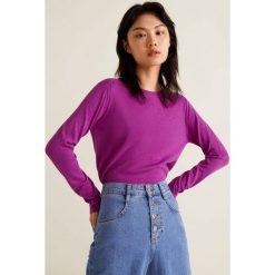 Mango - Sweter Lucca. Różowe swetry klasyczne damskie Mango, l, z bawełny, z okrągłym kołnierzem. Za 69,90 zł.