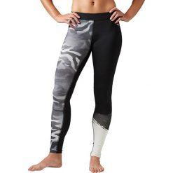 Odzież damska: Reebok Spodnie damskie Camo Compression Tight czarne r. XL (BK3142)