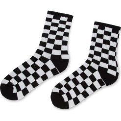 Skarpety Wysokie Damskie VANS - Checkerboard Crew VN0A3H3NHU0 r.38,5/42 Black/White. Białe skarpetki damskie marki Vans, z bawełny. Za 39,00 zł.