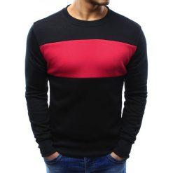 Bluzy męskie: Bluza męska bez kaptura czarna (bx3295)