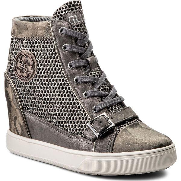 Zaawansowane Sneakersy GUESS - Fiore FLIOE1 FAM12 GREY - Szare sneakersy LF97