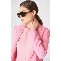 Okulary przeciwsłoneczne damskie: NA-KD Accessories Owalne okulary przeciwsłoneczne – Black,Yellow