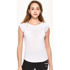 T-shirty damskie: T-shirt basic – Biały